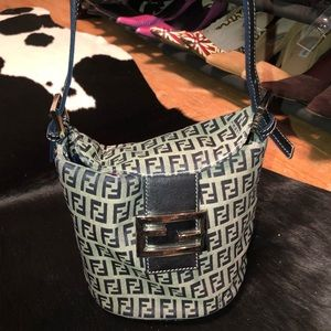 Fendi vintage mini zuccchinno bucket bag